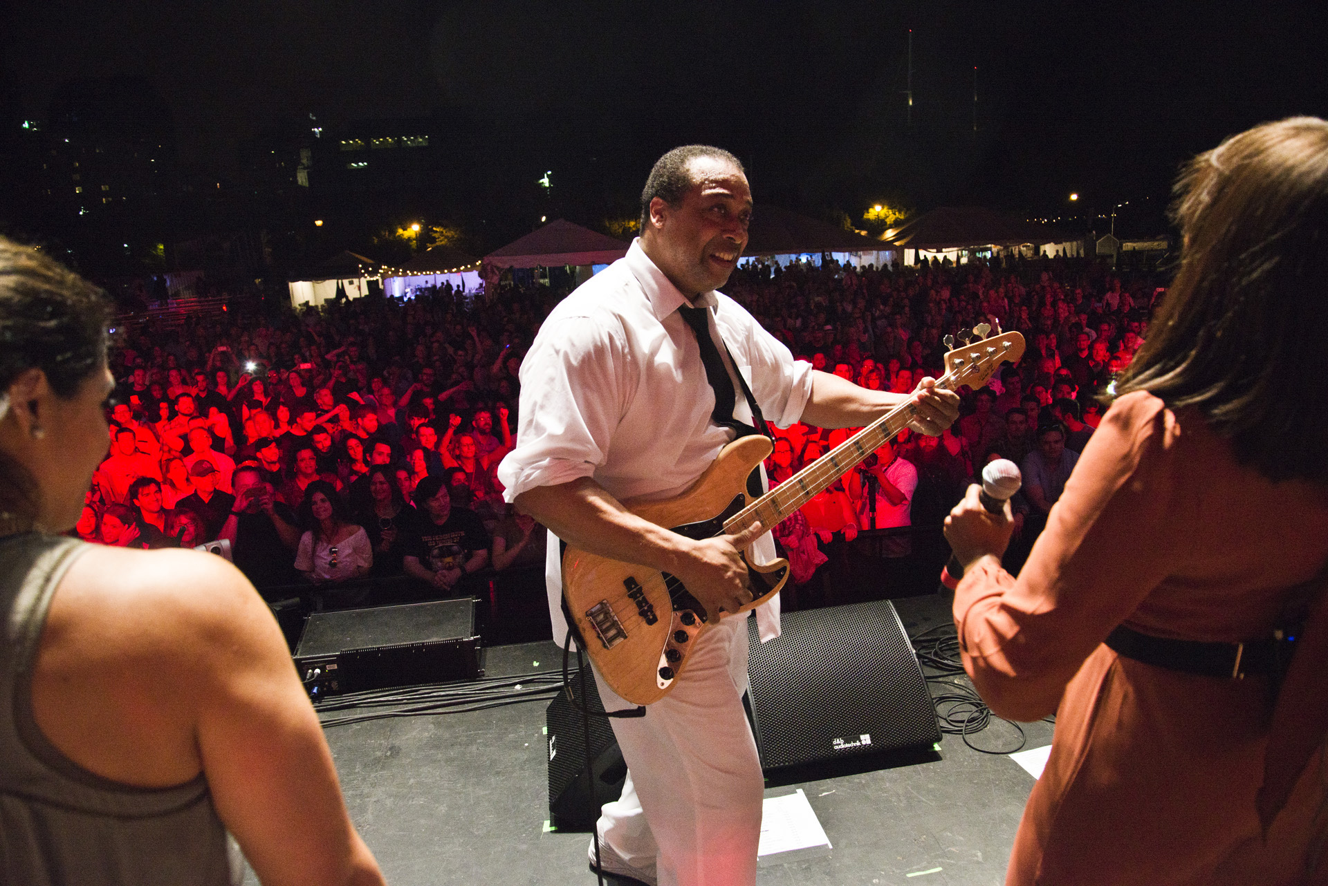 On Stage with the Nile Rogers band, just as the Disco Dance Party Broke out