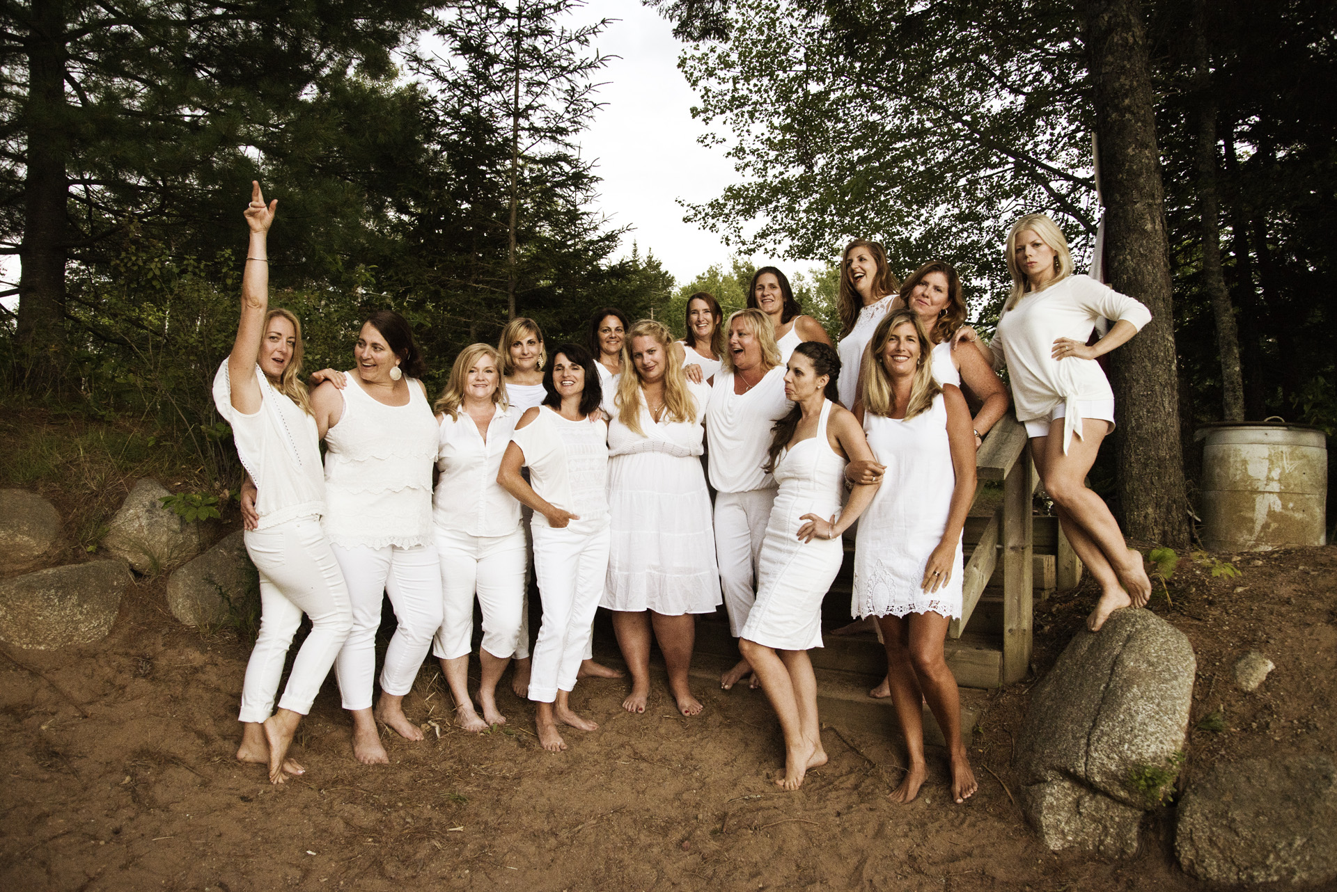 "The ""White Party"", in the woods near a lake!!"
